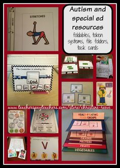 For a variety of materials for teaching students with autism and special education. See similar pins at Christine Reeve's board (@drchrisreeve).