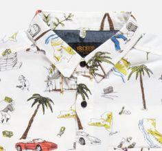 tropical illustration of drug dealer life style