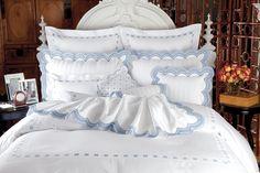 Luxury 100/% Cotton Pillow Cases Housewife Satin Stripe PillowCover 300ThreadCoun