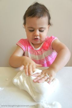 Stretchy play dough for kids