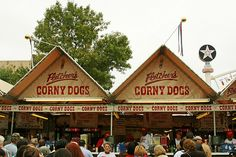 The Famous Fletcher's Corny Dogs at the State Fair of Texas