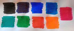 Pelikan Edelstein inks colour chart.
