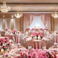結婚式場写真「テーブルコーディネート:大人ピンク。優しい雰囲気をご希望の方に