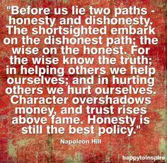 Honesty quote via HappytoInspire and www.TheRabbitHoleRunsDeep.Blog.com