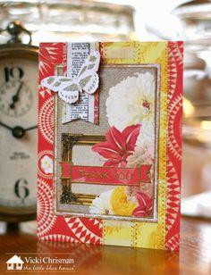 Vicki Chrisman- Thank You Card- BoBunny Sweet Life- The Little Blue House #lbhmediateam #thelittlebluehouse #bobunny