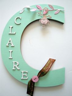Wall Letter Decor nursery letters, nursery wall hanging letters, glittered pink