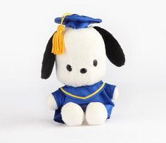 "HK |❣| HELLO KITTY Sanrio Friend - Pochacco 5"" Graduation 2014 Mascot Plush"