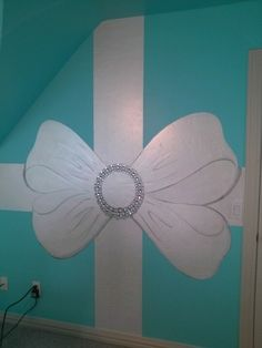 Child's room as a Tiffany's box with a big white bow, by Lezley Lynch Designs, Edmond, Ok.