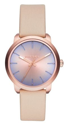 2e250efd1cf Diesel Flare Degrade DZ5572 Women s Beige Leather Strap Casual Watch  Quarzuhr