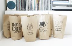 gift wrap // printed paper bags