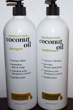 Coconut Shampoo & Conditioner Coconut Oil Shampoo, Hair Care Brands, Hair Scalp, Hair Growth Tips, Shampoo And Conditioner