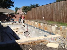 Awesome pool being built in Murphy by our Hobert Pools team!
