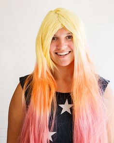 Colorful Dyed Wigs - Inexpensive and easy! http://www.sweetpaulmag.com/crafts/colorful-dyed-wigs #sweetpaul