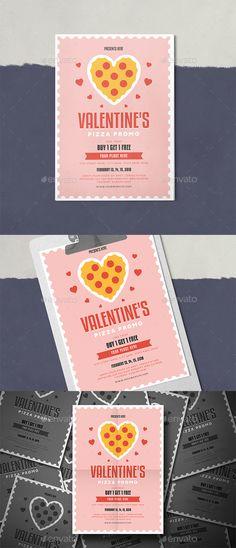Valentine's Pizza Promo Flyer