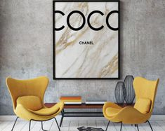 Coco Chanel gold marble print, Coco Chanel Print, Printable Coco Chanel, Coco Chanel Wall Art, Coco Chanel Digital Print, Coco Chanel Poster