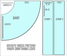 Infinity Dress Pattern, Make a tube top in matching material to wear over strapless bra to give more options. Infinity Dress Patterns, Infinity Dress Tutorial, Sewing Clothes, Diy Clothes, Remake Clothes, Dress Sewing, Clothing Patterns, Sewing Patterns, Skirt Patterns