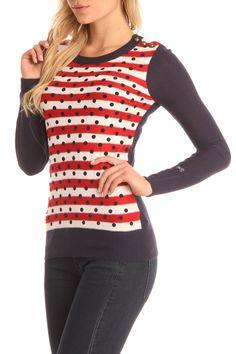Tommy Girl Alice Sweatshirt In Tango Red