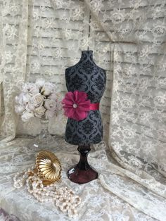 Jewelry Stand Necklace Display Mannequin Damask Dress Form