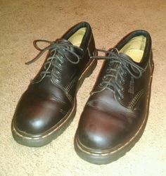 dr. martens men's brown leather shoes size 9 #DrMartens #Oxfords