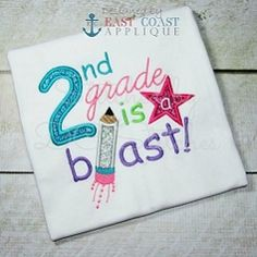 2nd Grade Blast Applique - 3 Sizes! | back-to-school | Machine Embroidery Designs | SWAKembroidery.com East Coast Applique