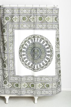 Magical Thinking Temple Medallion Shower Curtain $20