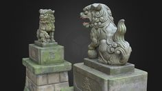 Two Komainu #4 from Shinto Shrine. Japan by ssh4