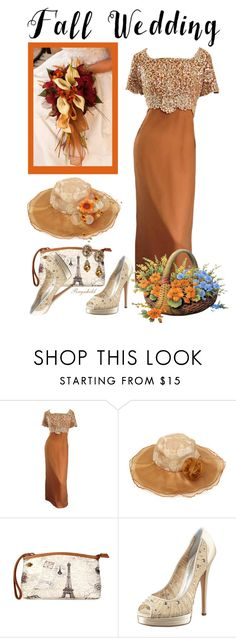 """""""Fall Wedding"""" by ragnh-mjos ❤ liked on Polyvore featuring Emma Domb, Casadei and Heidi Daus"""