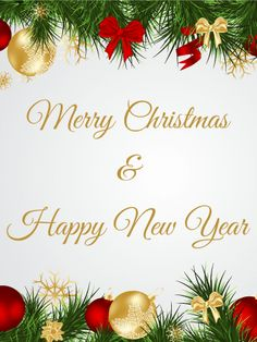 Send Free Fir Branch & Christmas Ornaments Card to Loved Ones on Birthday & Greeting Cards by Davia. Merry Christmas In Cursive, Holiday Quotes Christmas, Christmas Wishes Quotes, Merry Christmas Greetings, Christmas Messages, Merry Christmas And Happy New Year, Merry Xmas, Holiday Cards, Christmas Holidays