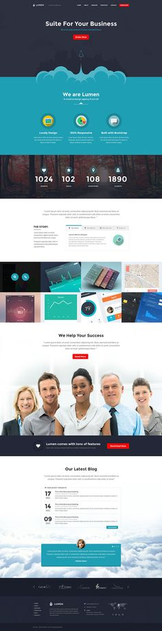 Lumen - Multi-purpose Template on Behance