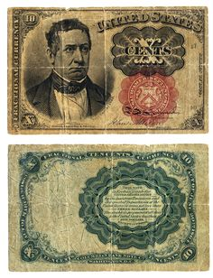 United States fractional currency note 1874