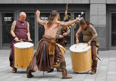 Clanadonia Tribal Highland Band - a Celt and Pict inspired drum and bagpipes band. They are known for their very animated live performances. Scottish Bands, Scotland Kilt, Celtic Heart, England Ireland, Highland Games, Celtic Music, Men In Kilts, Scottish Tartans, Culture
