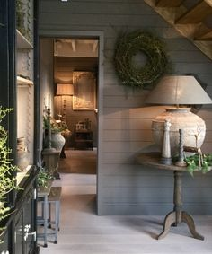 Earthy Decor, Painting Wood Paneling, Rustic Home Design, French Country Decorating, Rustic Chic, Decoration, Entryway Decor, Interior Inspiration, Home Furnishings