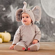 Baby Elephant Costume There is nothing cuter than a baby elephant and there is probably nothing more precious than your little one. Together, it will be a cuteness overload in this one-piece costume.