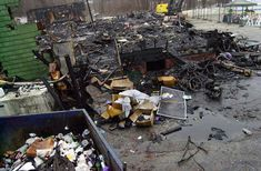 The Station Nightclub Fire | ... of the station nightclub litters the scene february 23 2003