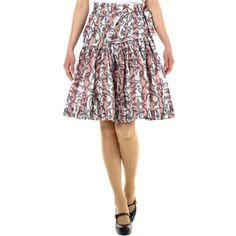 Stripe taffeta jacquard skirt