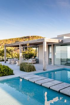 Adriaan Louw - the outside pool with a pier. For more followwww.pinterest.com/ninayayand stay positively #pinspired #pinspire @ninayay