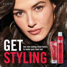 New Chi products!!! Plus you get a free travel Chi set (Shampoo, conditioner, serum, & protectant spray) with a $30 Chi purchase! Avon Products, Hair Products, Avon Brochure, Avon Representative, Fresh Face, Catalogue, Hairspray, Natural Skin, Blow Dry
