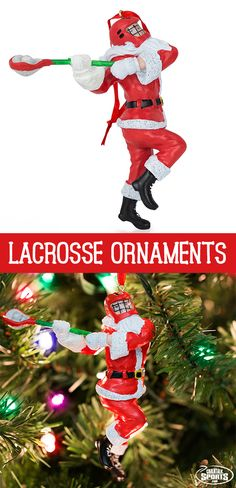 Santa is dashing past the crease and straight to your Christmas tree with this fun and playful ornament!
