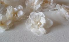Set of 3 Bridal hair pins. Ivory flower hair by ShesAccessories, $18.00