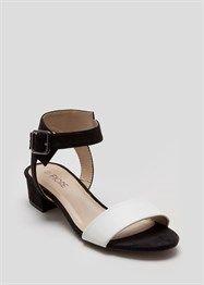 Two Tone Block Heel Sandal