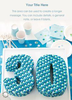 30th Birthday Cake designed by Martha Stewart on pingg.com