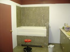 dog grooming shop ideas,,like this. Do away with a dog tub and use human (: