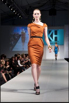 f93667094b9caf Same dress in orange - looks to be by designer Kevan Hall
