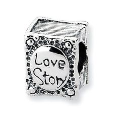 Sterling Silver Love Story Book Charm Bead Fits Pandora Chamilia Biagi Bracelet  Pick and choose your perfect bead combination to reflect exactly your own unique personality!  Our beads and charms are Compatible with Pandora, Chamilia, Biagi & all other styles of bead bracelets