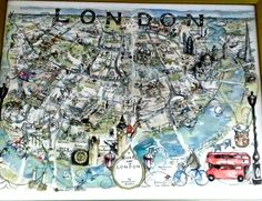 Artsy map of London
