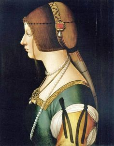 Bianca Maria Sforza (1472–1510) was Holy Roman Empress as the second wife of Maximilian I, Holy Roman Emperor by Ambrogio de Predis.