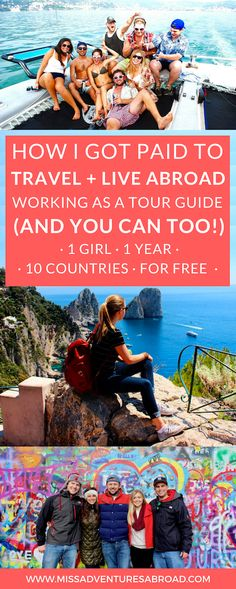 Exactly How I Lived In Europe + Got Paid To Travel (And You Can Too!) · Have you ever dreamed of living and working abroad, or better yet, getting paid to travel? In this post, you'll discover how I traveled to over 10 countries and 20 cities...and got paid to do it! See if working as a tour or student travel guide is right for you. Your dreams of making a living while traveling may be easier to achieve than you'd think! Warning: Major travel inspiration ahead!