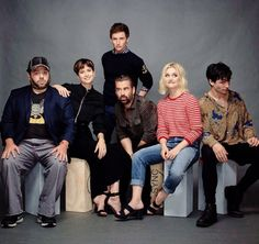 The Fantastic Beasts cast (Dan Fogler, Katherine Waterston, Eddie Redmayne, Colin Farrell, Alison Sudol and Ezra Miller) pose for Entertainment Weekly at SDCC 2016