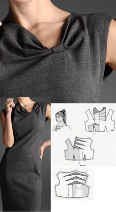 Amazing Sewing Patterns Clone Your Clothes Ideas. Enchanting Sewing Patterns Clone Your Clothes Ideas. Sewing Dress, Dress Sewing Patterns, Blouse Patterns, Clothing Patterns, Blouse Designs, New Dress Pattern, Sewing Blouses, Blog Couture, Vogue Patterns