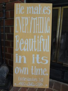 Everything Beautiful Hand Painted Sign by PurePaintedSigns on Etsy, $65.00